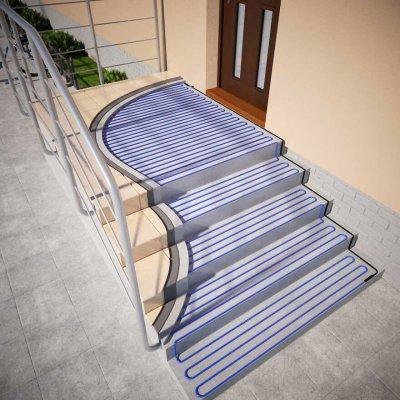 Egy fűtőkábel a lépcsők fagyvédelmét is biztosíthatja
